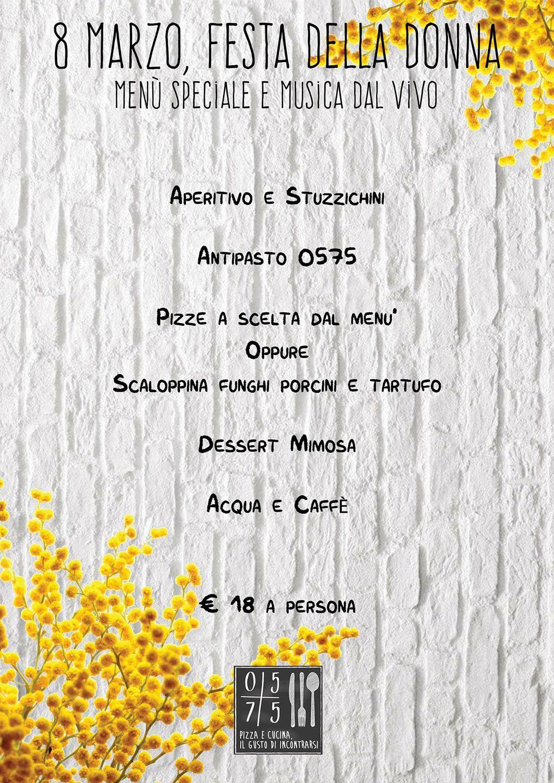 0575 Pizza e Cucina 8 marzo festa della donna