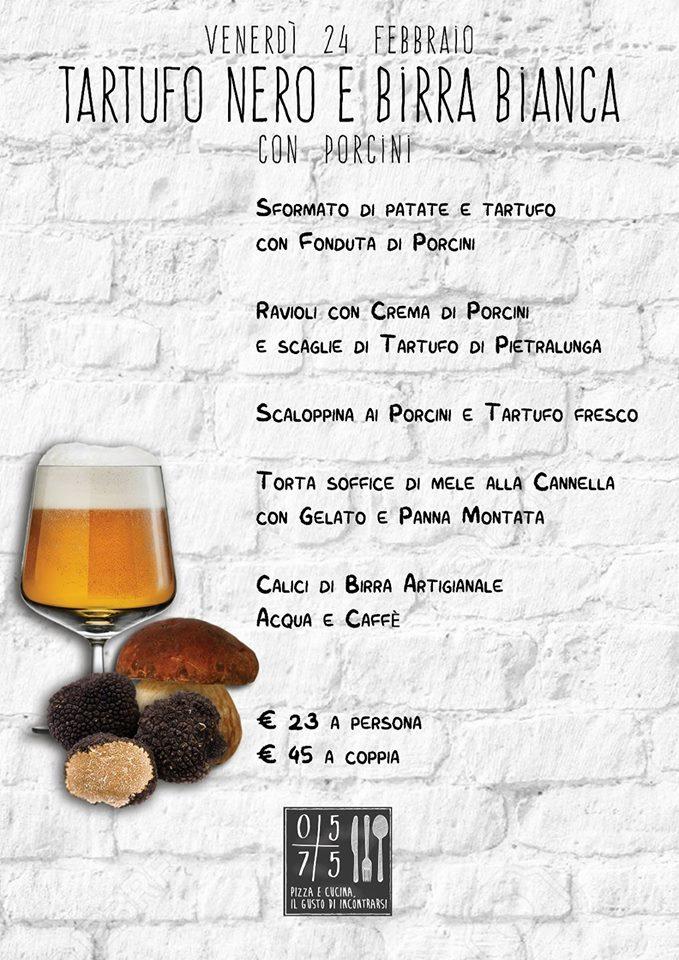 24 febbraio tartufo, birra e porcini