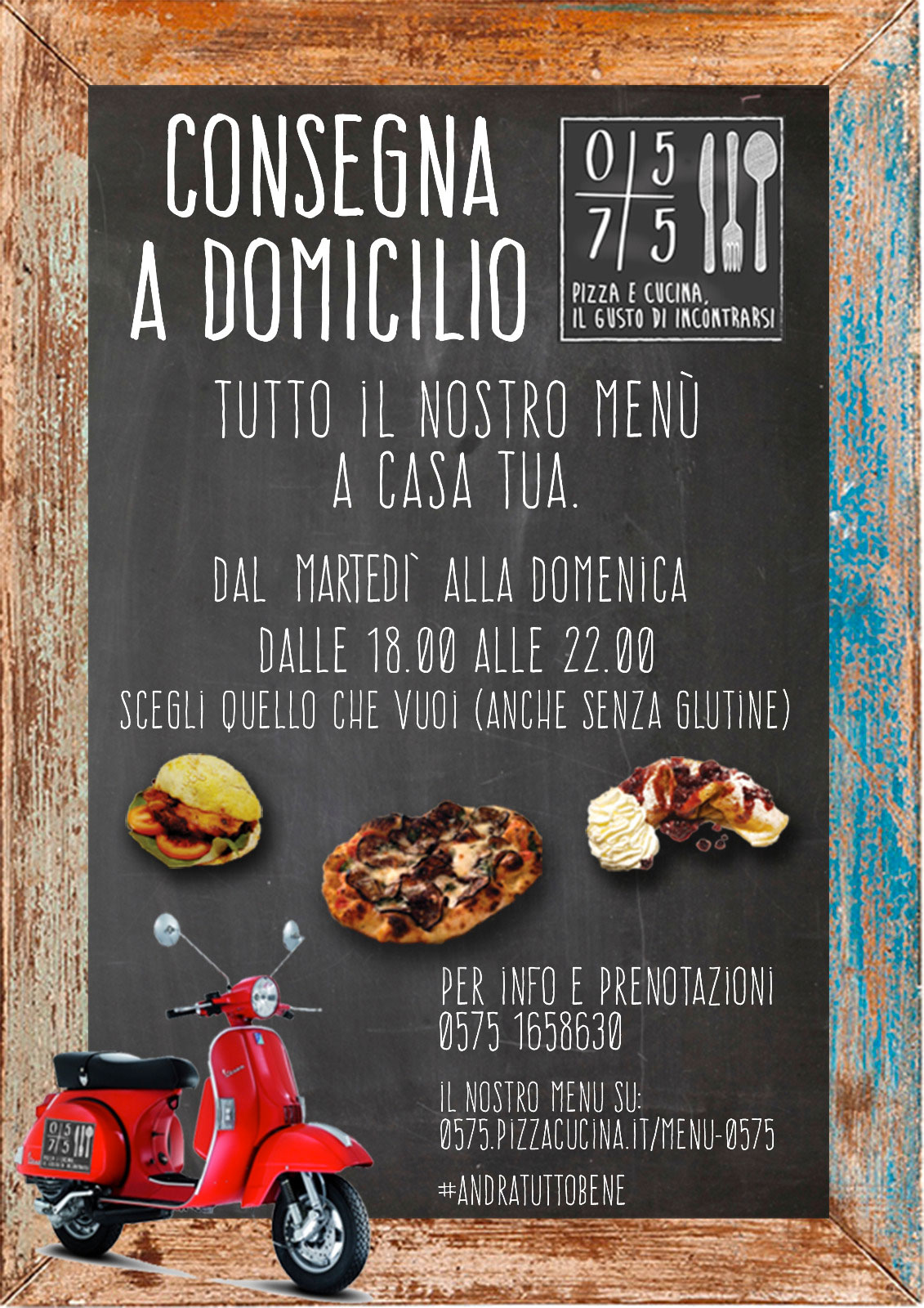 menù 0575 pizzeria sansepolcro